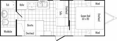 travel trailer floor plans. Model 26RB Floor Plan THOR California Travel Trailers Trailer Plans
