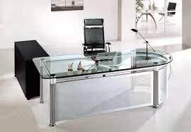 Beautiful Glass Office Desk Stunning Decorating Ideas With Regard To Plan 6
