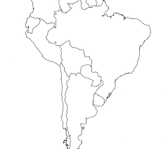 Latin America Blank Map Free Printable Maps Intended For Blank Latin