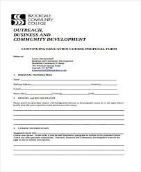 Course Proposal Template Free 9 Course Proposal Form Samples In Sample Example Format