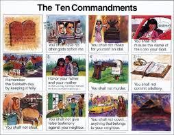 10 Commandments Chart Chart Ten Commandments Niv Laminated