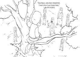 Print enough sheets for each child to have one of each. Jesus And Zacchaeus 3 Coloring Page Free Printable Coloring Pages For Kids