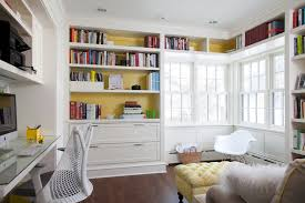 Library home office renovation Farmhouse Back Of Bookcase Painted Ksi Kitchen Back Of Bookcase Painted Transitional Denlibraryoffice The