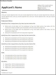 Resume Outlines Free