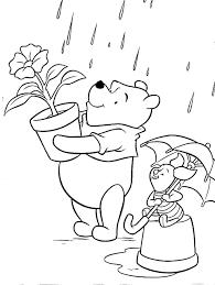 Disegni Da Colorare Winnie The Pooh E Pimpi Sotto La Pioggia Disegni