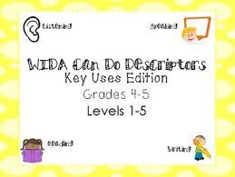 Wida Growth Charts Can Do Descriptors Wida Worksheets Teachers Pay Teachers