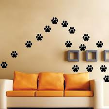 paw print wall decals dog cat walking paw print wall stickers decal home decoration lk009 wall