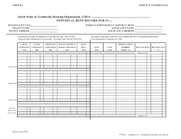 rent record template html of record log template payment managing rental property