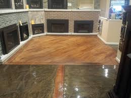 Concrete Wood Floor Metallic Epoxy And Wood Concrete Showroom Floor Rochester Hills