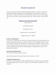 Security Guard Resume Objective Luxury Security Guard Resume Format