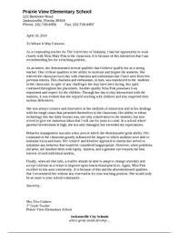 Rec Letter This Is A Letter Of Recommendation For A Teacher Intern Who Has Just