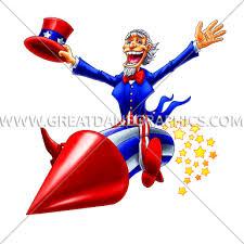 <b>Uncle Sam</b> Firework | Production Ready Artwork for T-Shirt <b>Printing</b>