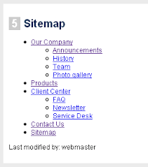 time for action creating a sitemap