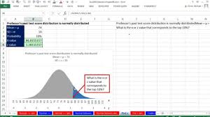 Excel Bell Curve Chart Excel 2013 Statistical Analysis 39 Probabilities For Normal Bell Probability Distribution