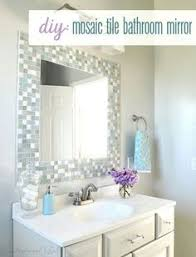 How To Decorate A Mirror With Mosaic Tiles Trending DIY Mirror Projects Mosaic tile bathrooms Bathroom 2