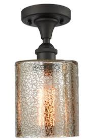 1 light cobbleskill 5 oiled rubbed bronze semi flush mount with mercury glass 516 1c ob g116 elite fixtures