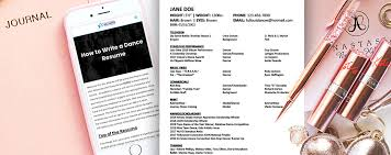Dance Audition Resumes How To Write A Dance Resume Hollywood Dance Experience