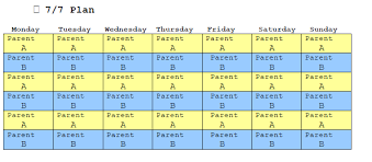 Sample Of Schedules Sample Florida Child Custody Schedules Family Diplomacy