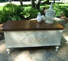 "Cedar Hope Chest ""Oh, Ziggy"" - Studio Paint Design | Painted cedar chest,  Cedar chest redo, Cedar chest"