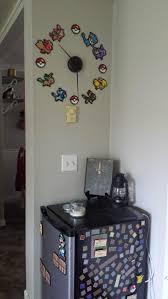 pokemon bead art wall clock video game room via reddit user youcancallmeboo i on diy wall art reddit with pokemon bead art wall clock video game room via reddit user