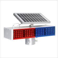 Solar Powered Red Led Lights Hot Item Solar Power Led Flashing Warning Light Red Blue