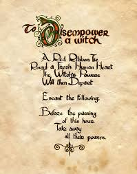 witches spell book pages to disempower a witch by charmed bos