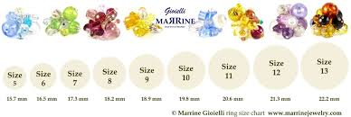 online ring sizer. murano ring size chart: beautiful jewelry online shop sizer l