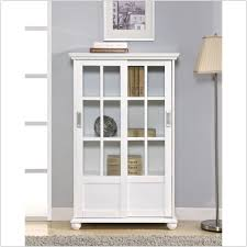 Kitchen Bookcase Furniture Portable White Wood And Glass Bookshelf Mixed Large