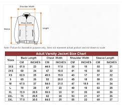 Varisity Jacket Size Chart Thenoteway