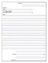 Friendly Letter Template And Example Writing Pinterest