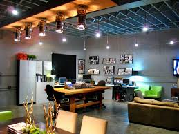 loft office. Modern Loft Living Space With Home Office Work Area