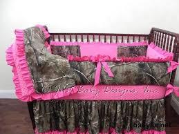 Custom Crib Bedding Mary Elizabeth - Girl Baby Bedding, Camo Crib Bedding,  Camouflage with Hot Pink