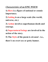 the odyssey essay topics odyssey epic conventions