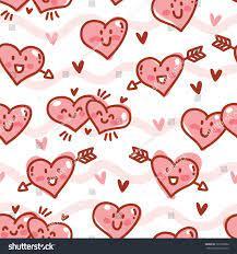 Cute Love Seamless Pattern Heart ...