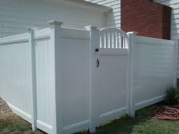 white privacy fence ideas. White Vinyl Privacy Tongue And Grove Fencing With Decorative Arch Gate In Pedricktown, NJ Fence Ideas