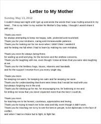 a letter to mom inspirational sample thank you letter to mom 5 examples in word pdf of a letter to mom
