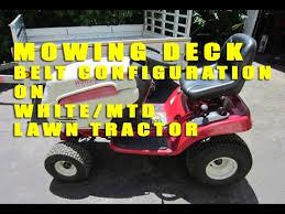 white mtd lawn tractor mowing deck belt configuration youtube White Lawn Tractor at White Lt542g Wiring Diagram