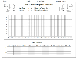 Printable Fluency Progress Chart My Fluency Progress Tracker Tj Homeschooling
