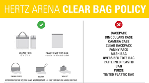 Hertz Arena New Security Bag Policies Hertz Arena