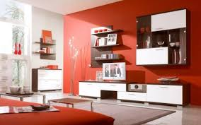 Red Wall Living Room Decorating Living Room Beautiful Rooms With Tv And White Furniture Design