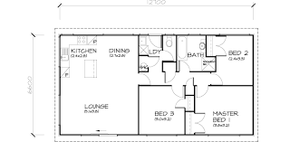 small house 3 bedroom floor plan with