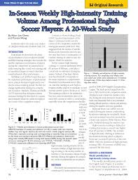 pdf in season weekly high intensity volume among professional english soccer players a 20 week study
