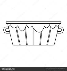 old wooden bucket icon outline style stock vector