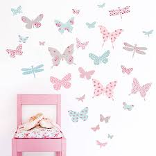 vintage fl erfly fabric wall stickers wall stickers