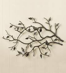 indoor outdoor cast iron bird branch wall art metal wall art