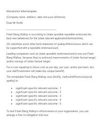 Introductory Letter Sample Business Introductory Letter Scrumps