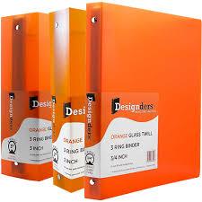 3 4 Inch Binders Orange Binders Jam Paper