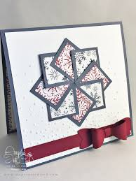 Scrapbooking Christmas Cards Designs Square Christmas Card Using All Stampin Up Products By Www
