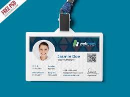 Identification Card Samples Office Id Card Design Psd Employee Id Card Identity Card
