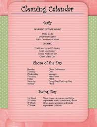Household Cleaning Chore Chart Keeping The House Clean Chore Chart By Beverly Murphy Musely